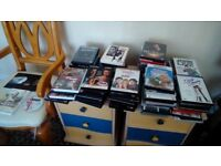A Collection of 60 - 70 DVD's
