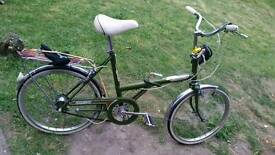 1970 Old fashioned raleigh stowaway