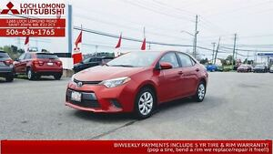 2015 Toyota Corolla LE - only $135 BW!!