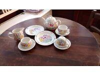 Fine bone china tea-set for 2 designed by Julie Depledge, made by Portmeirion