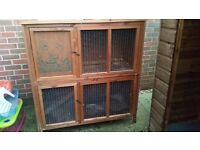 Second hand double rabbit hutch