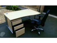 Office furniture clearance, used desks, new chairs. Large quantity