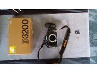 Nikon D3200 DSLR Camera (Body) plus 16gb Memory card