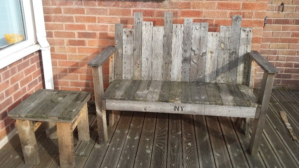 Garden Bench Seat And Coffee Table Upcycled Wooden Pallets