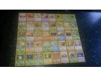 Pokemon cards - Complete Jungle common and uncommon set + 8 rares + holo