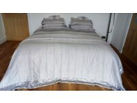 Superking bedding complete set grey silver sequins dunelm mill