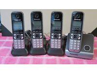 Panasonic KX-TG6711EB DECT Cordless Phone Set (4 ) + FREE CPR CallBlocker v:105