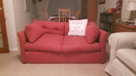 Sofa Bed for free -Red. Used,very useful as a temporary bed