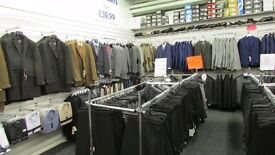 LARGE AMOUNT OF RETAIL CLOTHING SHOP FIXTURE & FITTINGS AVAILABLE AS A JOB LOT OR INDIVIDUAL ITEMS