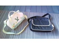 Vertbaudet changing bag with mat, cream colour with animal print