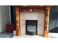 Antique pine fireplace. No scratches and a much loved piece of furniture.