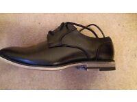 Boys black occasion shoes