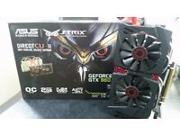 ASUS Strix GTX 960 2GB with warranty desktop GPU Used for 1 year for Office work