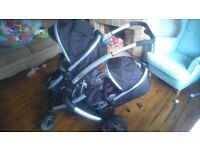 3 in 1 twin travel system with isofix car seats