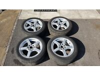 195/50 R15 Multi Fit Alloy Wheels and Good Tyres