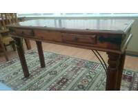 Solid wood console/telephone table
