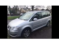 07 REG VW TOURAN FACELIFT MODEL -NEW CLUTCH AND FLYWHEEL - 7 SEATER - BLUETOOTH - GOOD CONDITION PX
