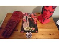 Mens Hellboy II Costume Halloween Adults Movie Fancy Dress Super Hero Boys