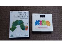 The hungry caterpillar dvd and kids hits cd