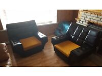 Retro Lounge Chairs - Pair - On wheels - 1960s
