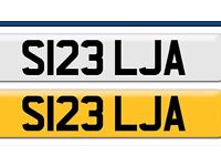 Cheap. bargain S123 LJA private cherished personal personalised registration plate number Cheap