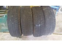 4 Renault Clio rims and tyres