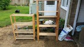 Wooden sheliving units SOLD