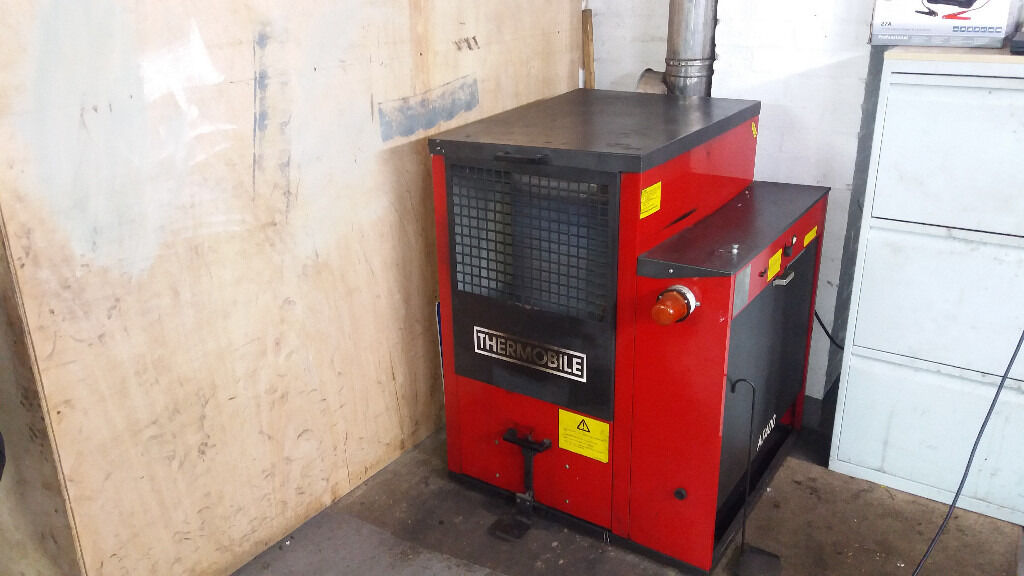 Thermobile waste oil heater at400 garage heater space for Heater that burns used motor oil