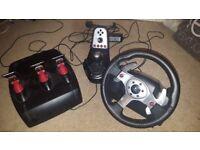 Logitech G25 Steering wheel. PS3/PC compatible.