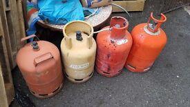 4 gas bottles