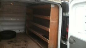 plywood van shelving transit vivaro etc