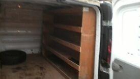 plywood van shelving transit vivaro etc