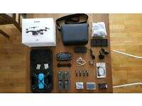 dji spark drone, dji care refresh, 11 month warranty and accessories
