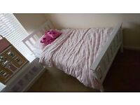*REDUCED PRICE* Three white single bed frames - under 6 months old