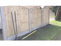 Bow top tanalised excellent quality fence panels