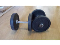 Pair of 10kg rubberised dumbbells - used. Commercial gym quality (bodybuilding, weights, gym) offers