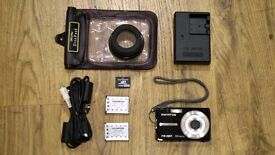 Olympus FE-280 Digital Camera with Underwater Case and Accessories