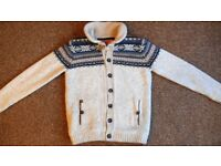 TOKYO LAUNDRY Thick (near chunky) Woolly Collared Jumper / Cardigan Gents Medium
