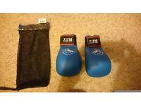 Karate blue PU Elite Blitz Gloves - medium