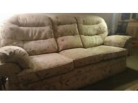 3 seater light green sofa