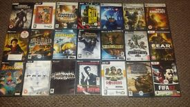 63 PC games, All but 3 Boxed, Great condition, all fully working, bargain,