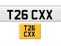 T26 CXX private cherished personalised personal registration plate number