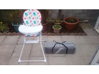 Highchair and travelcot