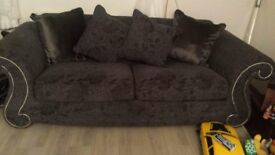 4 seater sofa and chair grey