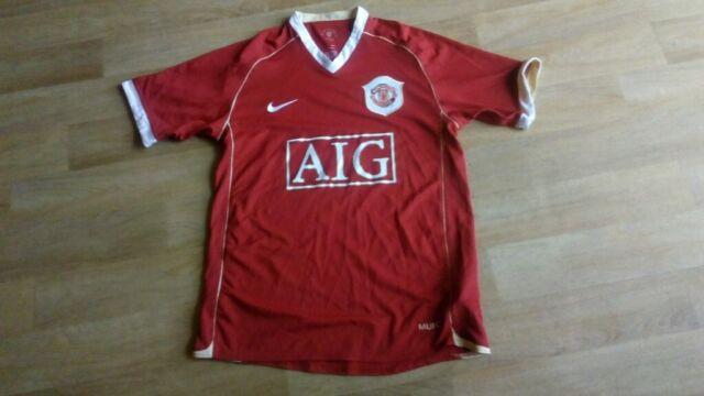 fdece9d85 2006/2007 Manchester United home football shirt Nike AIG men's ...