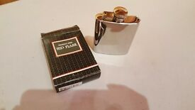 Small stainless steel hipflask