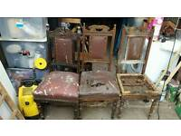 3 ANTIQUE CHAIRS FOR RESTORATION