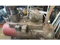 compton air compressor 3 phase very large capacity tank twin cylinder.