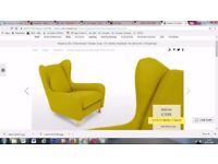 NEW!! MADE. COM RUBENS Armchair / Accent chair Moss green Mustard St Albans