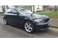 2008 BMW 1SERIES 116i 5 DOOR BLACK, SERVICE HISTORY.
